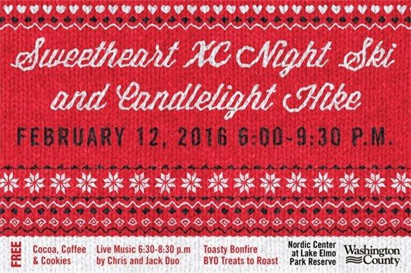 Sweetheart XC Night Ski and Candlelight Hike Feb. 12