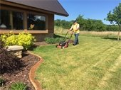Mowing around the Contact Station