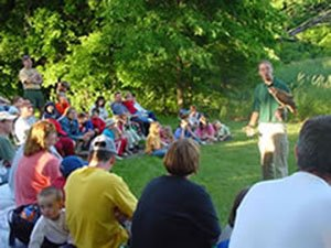 Nature discussions are part of the campfire programs