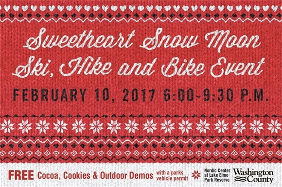 Sweetheart Snow Moon Ski, Hike and Bike Event