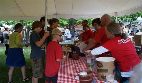 Volunteers serve treats at last year's Ice Cream Social at the Historic Courthouse.