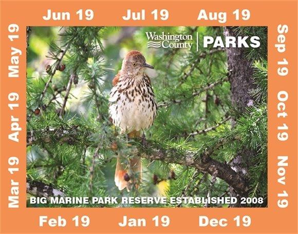 Washington County Parks sticker for 2019.