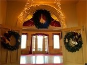 Historic Courtroom decorated for Christmas