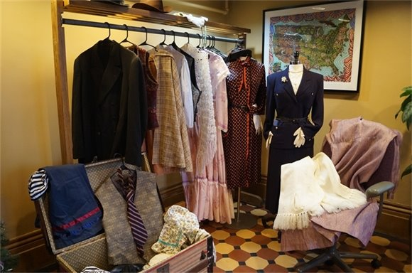 Clothing that is in the current Playing the Past wardrobe.