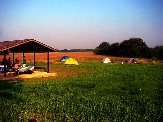 Group campsite at Lake Elmo Park Reserve