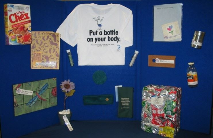 Recycling information display