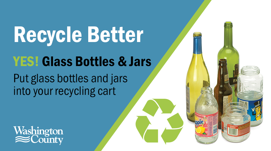 Yes, glass can be put in your recycling cart.
