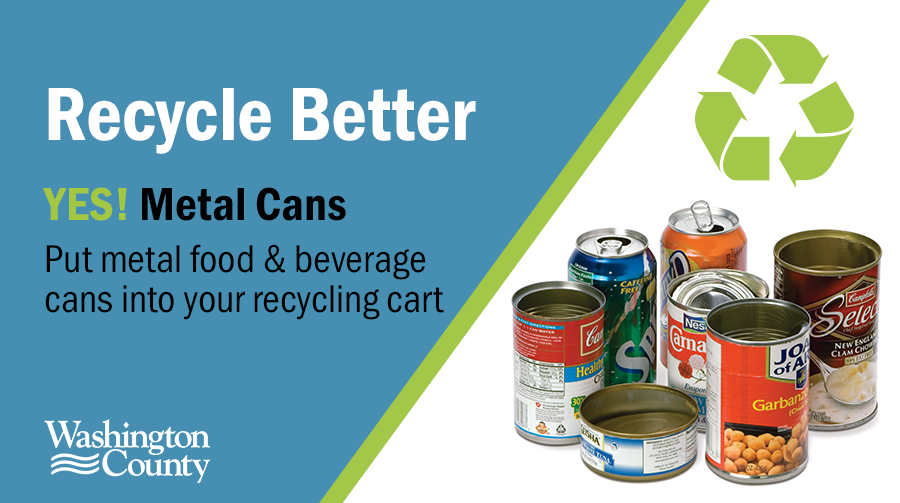 Yes, metal can be put in your recycling cart.