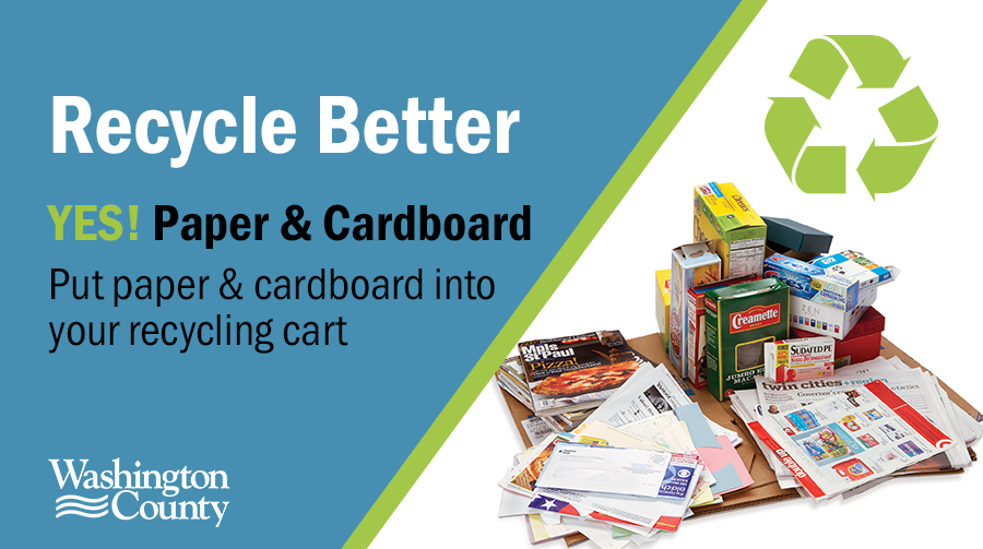 Yes, paper can be put in your recycling cart.