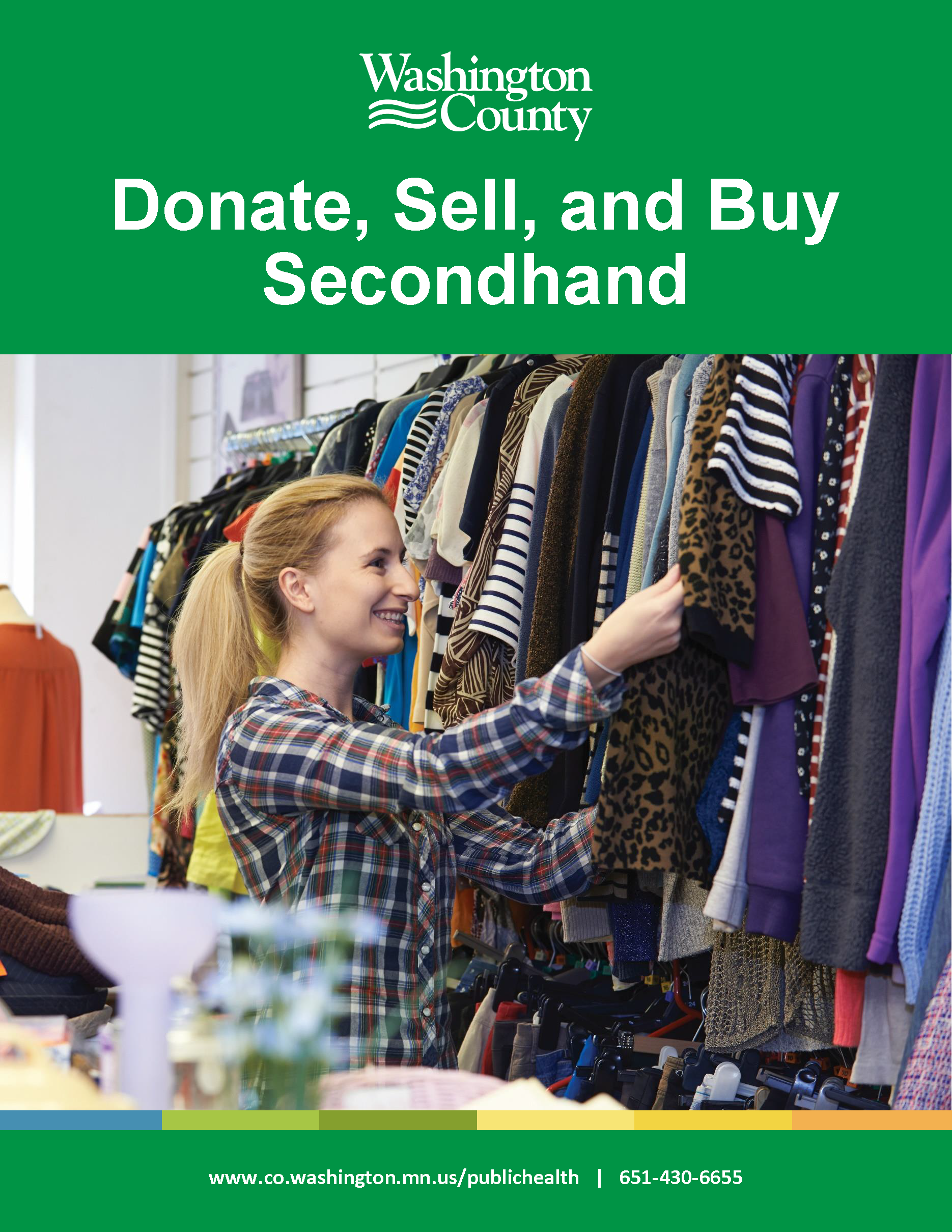 Donation and Secondhand Matrix front cover feature young, blonde women appearing to be shopping for