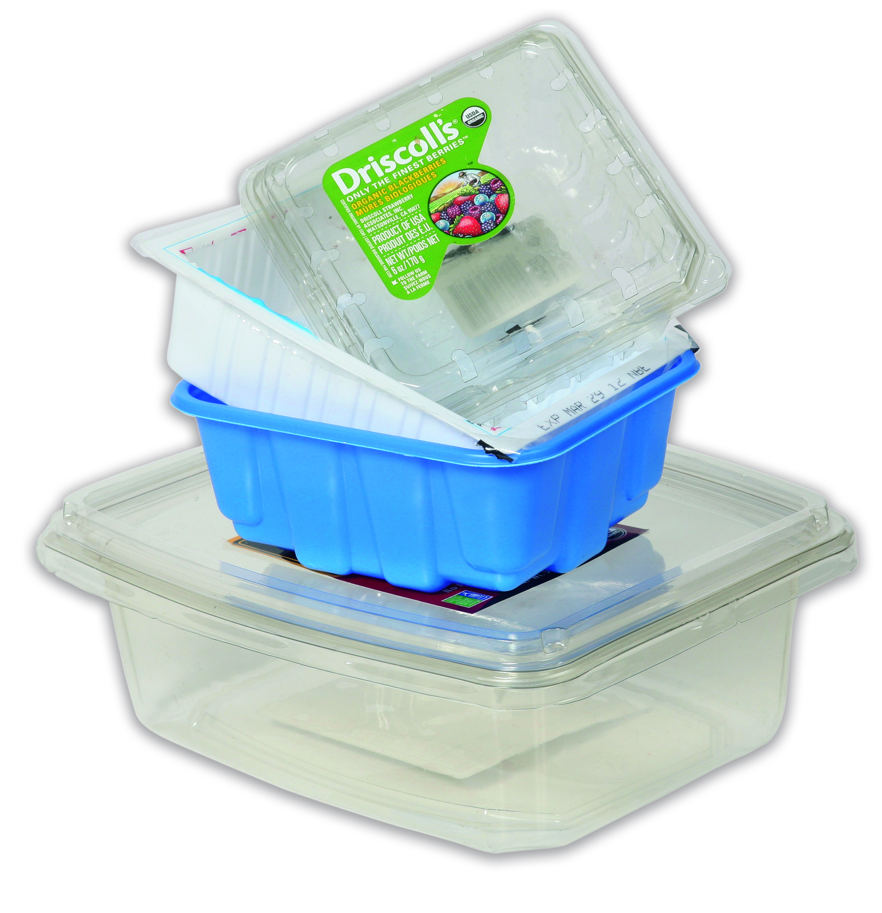 Recycling Plastic Berry Container and to-go packaging