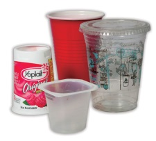 Plastics- yogurt cup and plastic cups