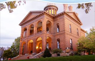 Historic Courthouse evening