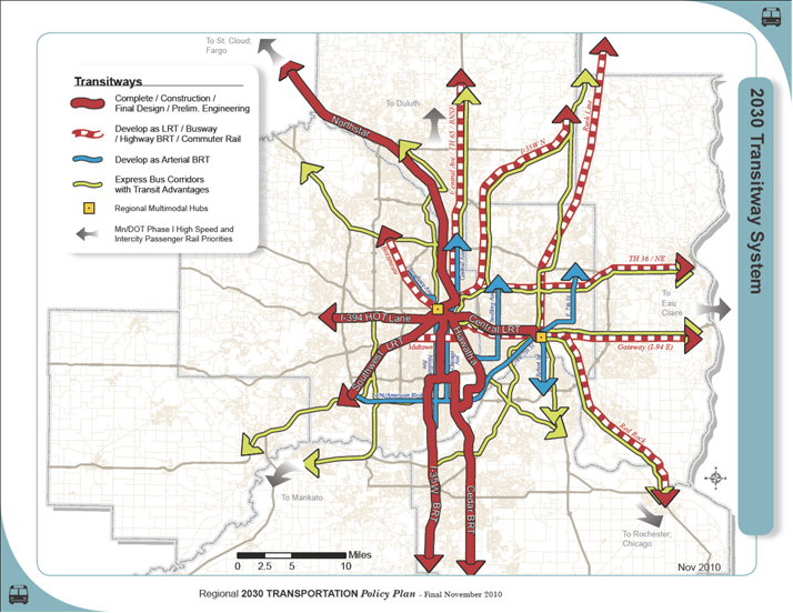 Met Council Transitway Map