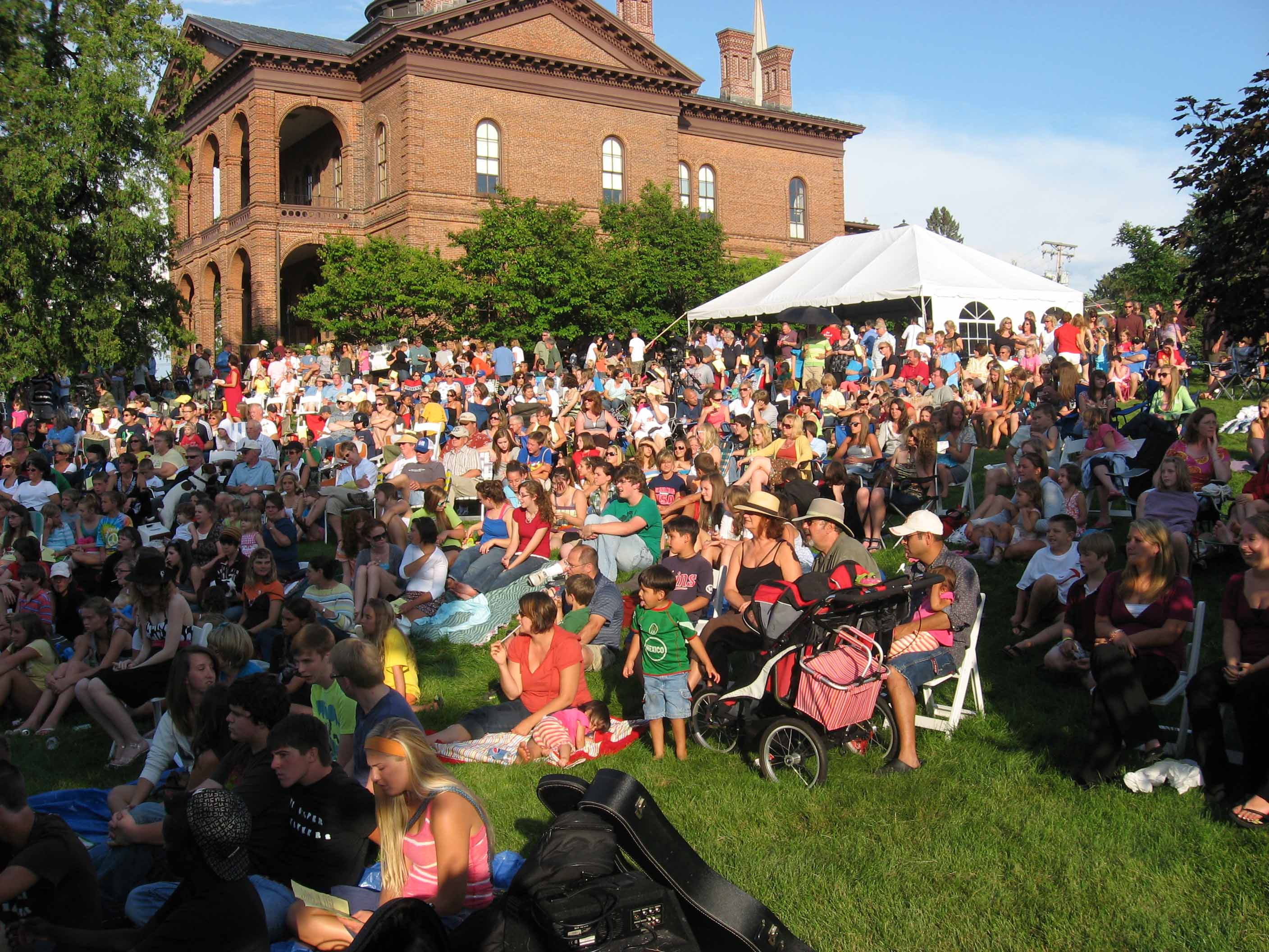 Community Ice Cream Social and Amateur Talent Show on the grounds of the Historic Courthouse