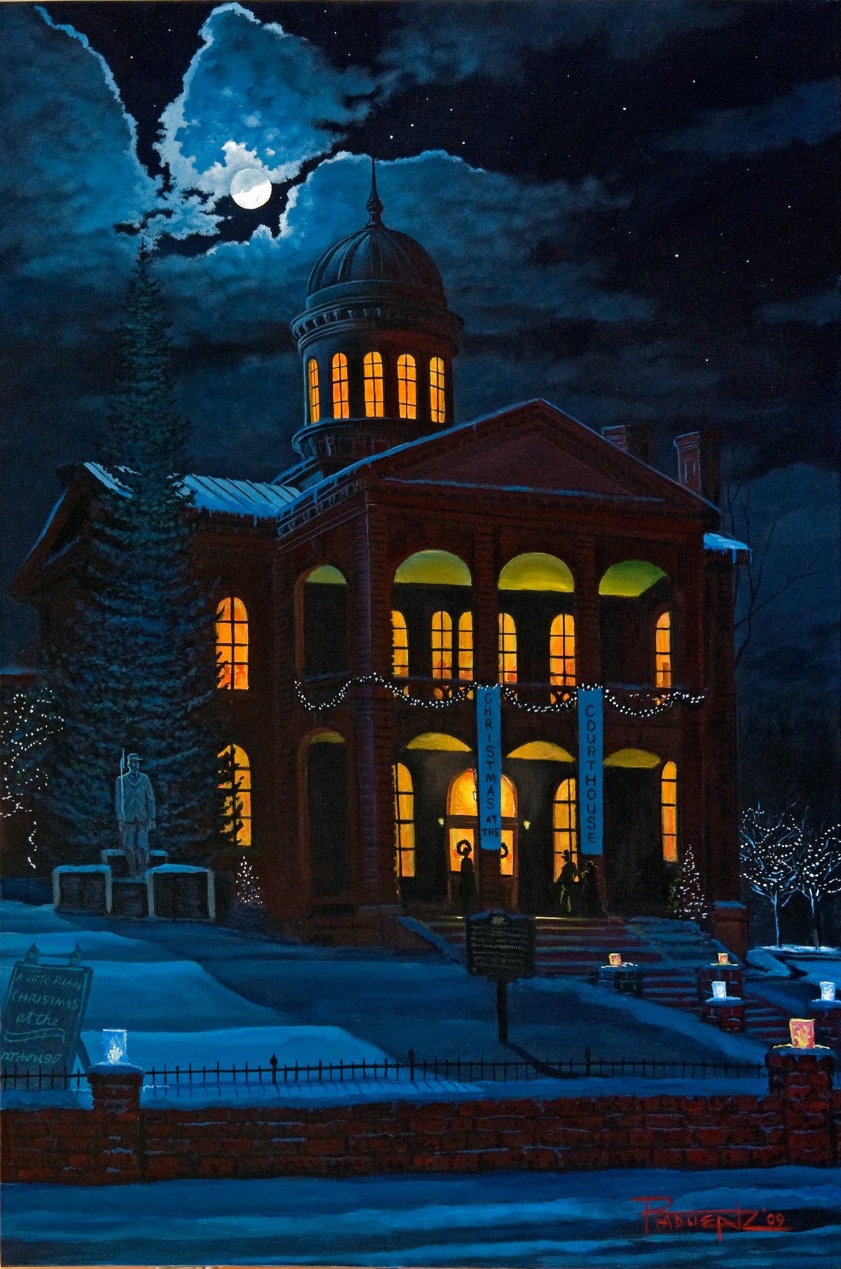 Randy Radeunz Painting of the Historic Courthouse