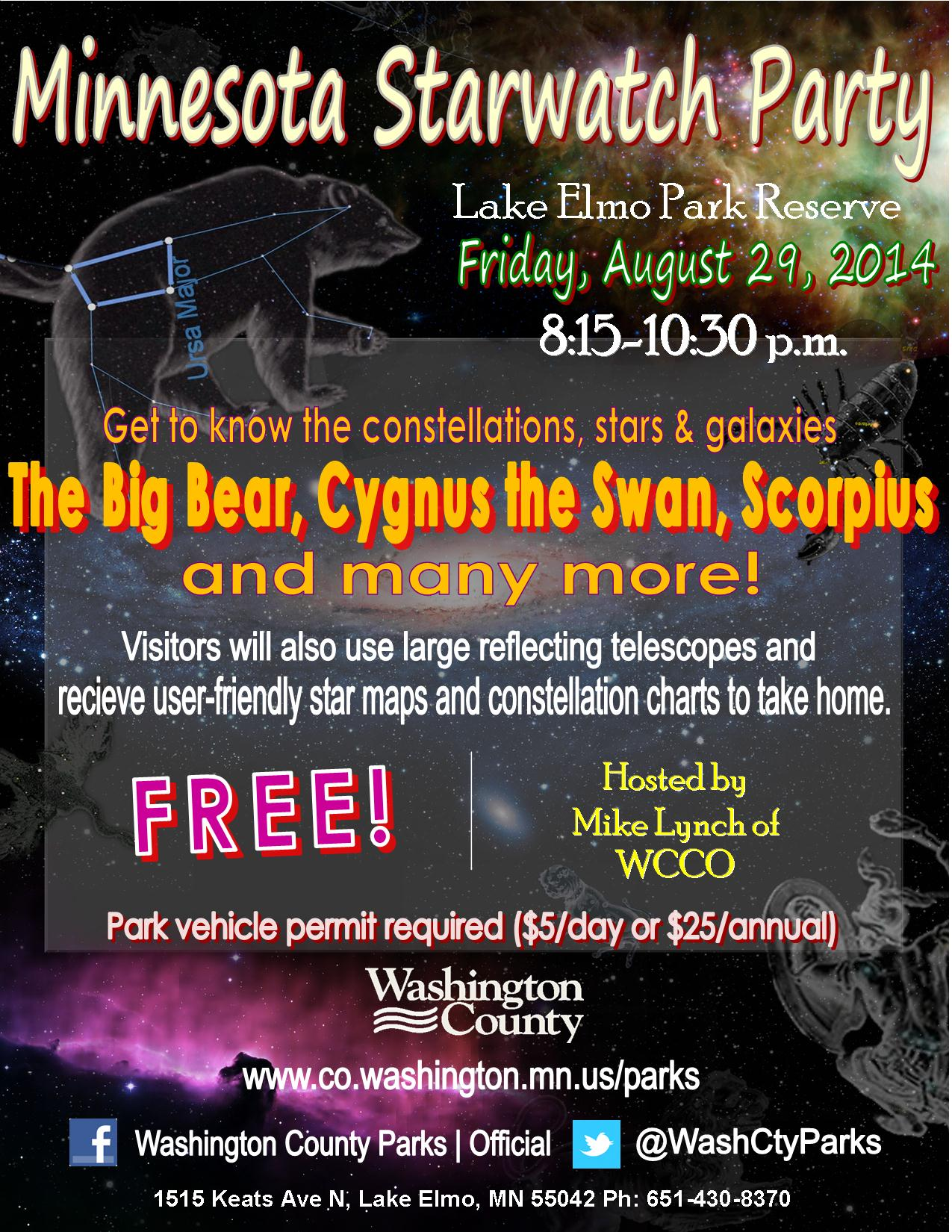 Starwatch Party at Lake Elmo Park Reserve