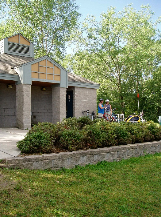 Pine Point Park has a rest area for bike riders.